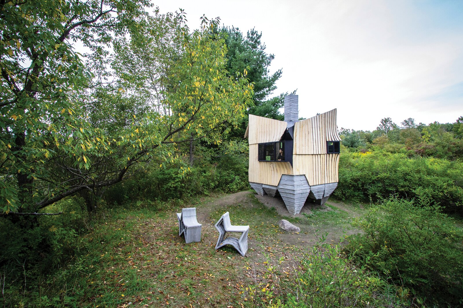 This Tiny 3D-Printed Cabin Makes a Big Statement About Sustainability (dwell.com)